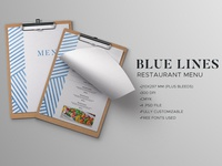 Blue Lines Restaurant Menu