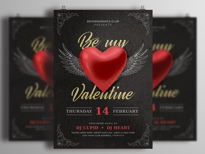Be My Valentine Party Flyer