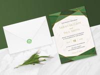 Green Emerald Wedding Invitation