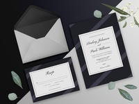 Elegant Dark Wedding Invitation