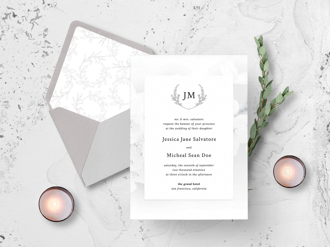 White Elegance Wedding Invitation By Nicolas Fernandez On