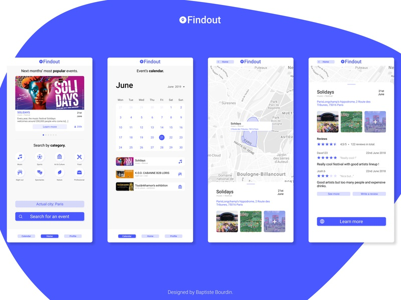 Event App Concept solidays dashboad map tourist event ux  ui design ux ui concept app figma