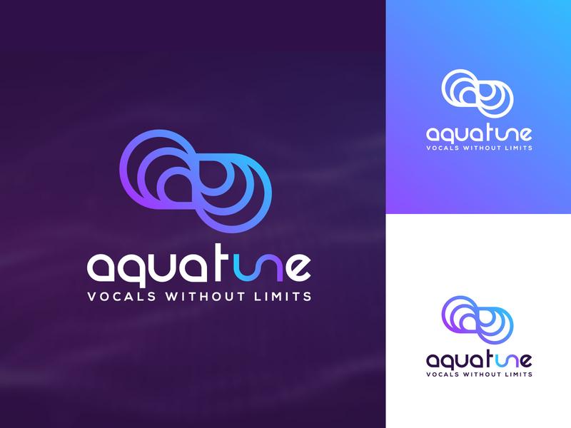 Infinity Music Wave Logo design for Aquatune