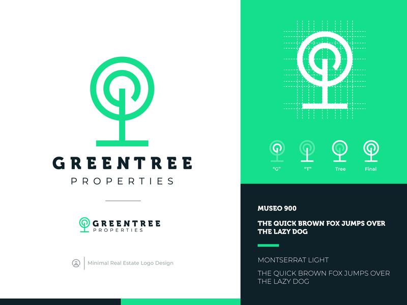 Minimal Green Tree Logo Design smart logo logomark logodesign logos logo green logo geometric design flat greenlogo naturelogo nature minimalistic minimalist minimal eco tree green
