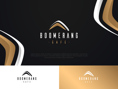 Luxury Boomerang logo design by ArsenicDesign