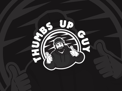 Thumbs Up Beard Guy Design