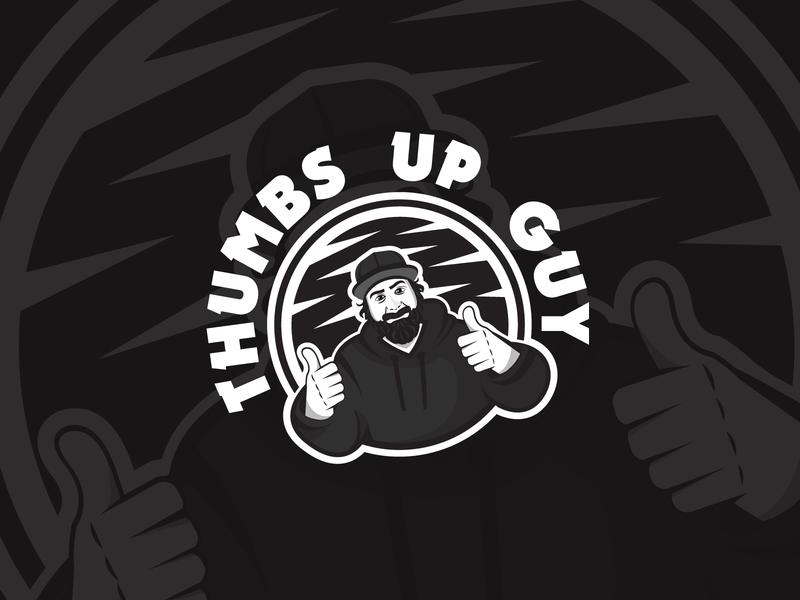 Thumbs Up Beard Guy Design black hat metal logo design modern creative blackandwhite hoodie guy dude vector logodesign logo bearded man beards like thumbsup thumbs beard