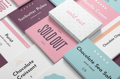 Bakery Flavor Cards