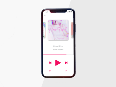 Music Player design interface mobile cool apple adobexd music player music