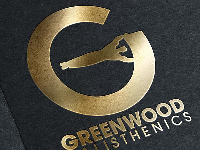 Greenwood Calisthenics Logo gold muscle fitness calisthenics logo