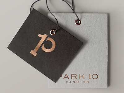 Park 10 Fashion Logo Design clothig beauty high end rose gold fashion logo