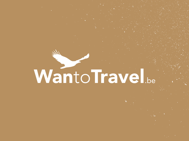 Logo WanToTravel typography vector branding travel logo