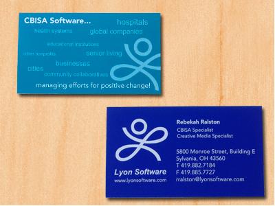 Lyon Software Business Cards illustrator branding
