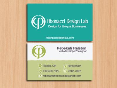 Fibonacci Design Lab Business Cards abobe illustrator design print material business cards