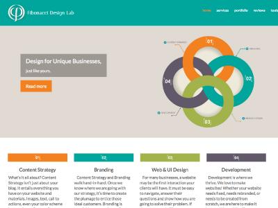 Fibonacci Design Lab, final html5 css3 wordpress