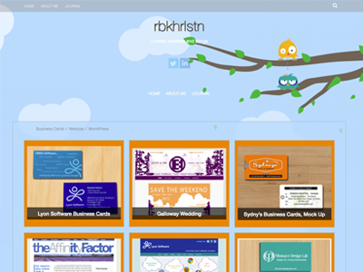 Personal Website html5 css3 php wordpress web design