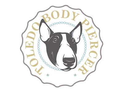 Toledo Body Piercer . com logo branding retro