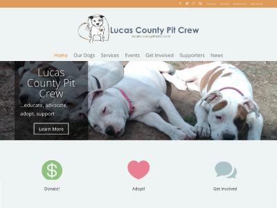 Lucas County Pit Crew Re-imagined wordpress non-profit html5 css3 divi custom