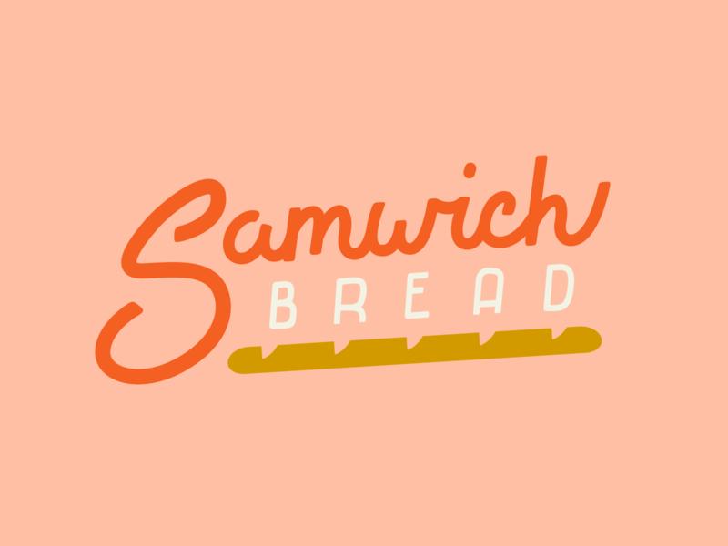 Samwich Bread sandwich lettering font design bread logotype handlettering logo