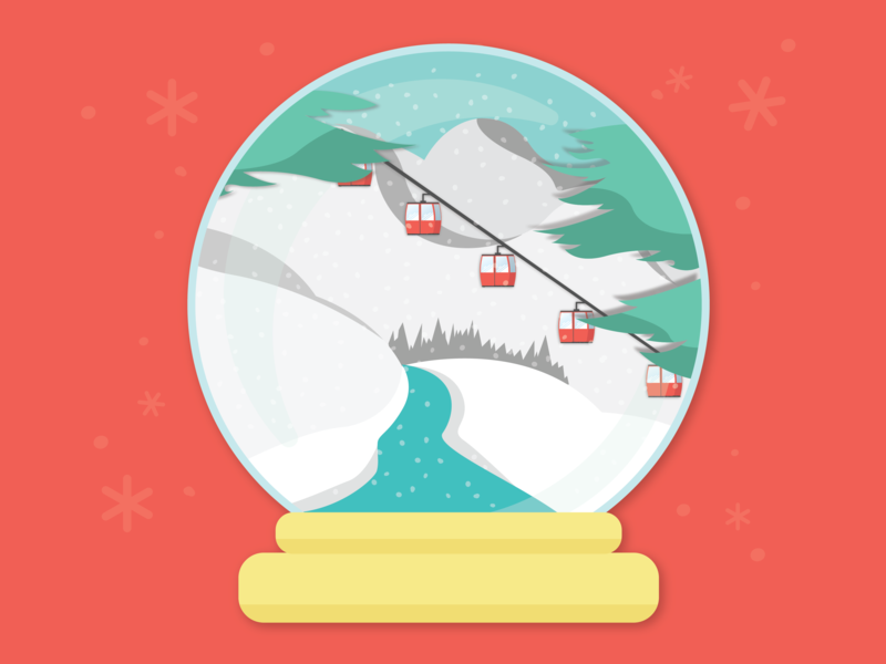 Snowglobe icon flat design vector color design art snowglobe winter snow illustration
