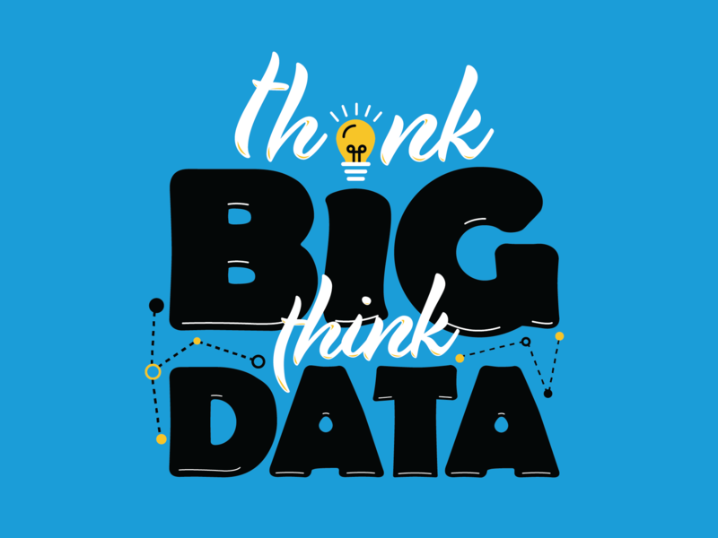 Think Big Think Data data type art branding icon design color typography illustration