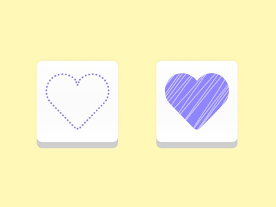 Daily UI Day 44: Favorite saved fave icons icon design iconography heart logo purple favorites save button icon heart favorite mobile app ui app design design dailyui