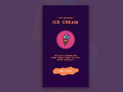 Ice Cream app