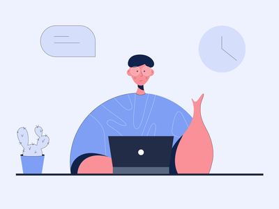 Design Delivery Custom Illustration animation illustrator branding icon logo design minimal flat design worker office vector flat illustration