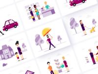 RateSetter Illustrations flat information illustration minimal design investment icon branding vector art vectors illustrator illustraion