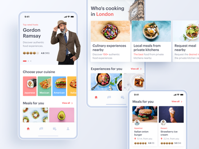 Local Food Experiences App ios applications minimal ux design ui tasty experience icecream burger cuisine delivery app delivery nutrition meal food culinary application mobile mobile app