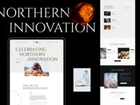 Northern Innovation Website font crystal shapes cold website grid webdesigns web design typogaphy promo landing innovation arctic nordic north inspiration contest webdesign ux ui