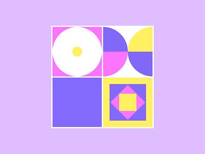 Shapes in Motion loop art icon design branding after effect illustrator flat illustration vector motion motion design pallet colors shapes pattern animation