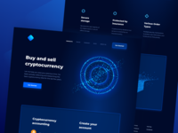 Cryptocurrency Exchange Concept