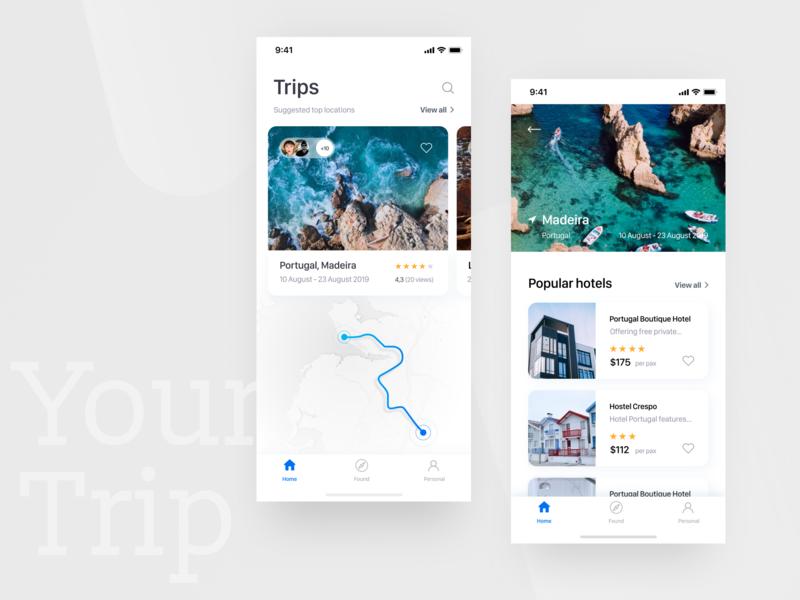 Travel App Concept trip planner trip travel app app logo ux minimal website information ui design
