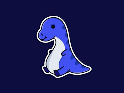Dino design flat animation sticker illustration art ui minimal ux icon logo vector illustrator illustration