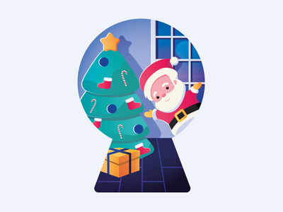 Merry Holidays from TheRoom vector graphicdesign design santa newyear 2020 christmas illustration theroom ux ui