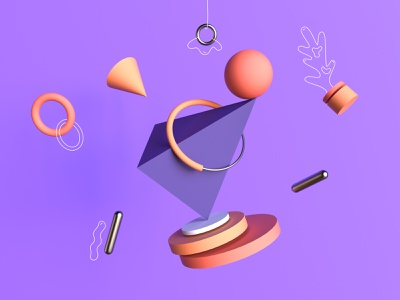 Abstract 3D balance simple render product redshift octane minimal icon vector illustration design color cinema4d c4d abstract 3d