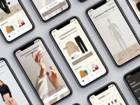 Smart Wardrobe App web flat vector website logo wardrobe design ux ui minimal app mobile