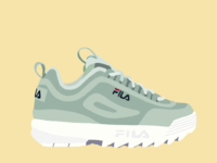 Fila Disruptor II Illustration