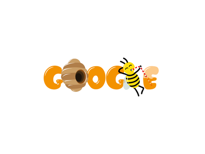 Bee doodle for Google