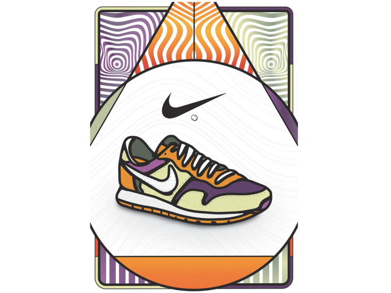 _MattiaChavesXNIKEAIR_ campaign brand shapes texture colors graphic graphicdesign advertising digital art digital illustration design illustration art illustration sneaker illustration sneakers nike shoes nike air nikeairpegasus nikeair nike