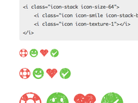 Textured Icons with Icon Stacks