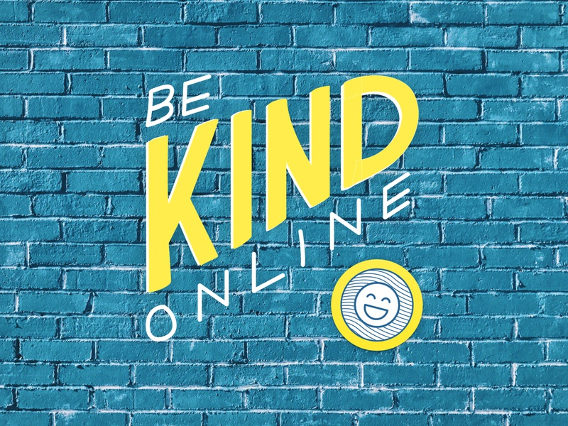 Be Kind Online community mantra positivity rebound process drawing lettering online