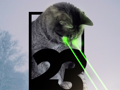 SF Nights Volume 23 Album Art Preview techno house music san francisco sf nights album art lasers kitties