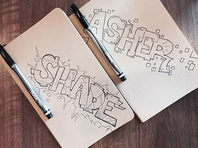 Notebook Graffiti Gift moleskin drawing lettering notebook sharpie graffiti
