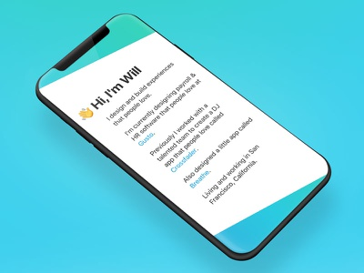 🌈  New Year, New Me 🌈 responsive portfolio emoji iphonex mobile website personal rainbow color