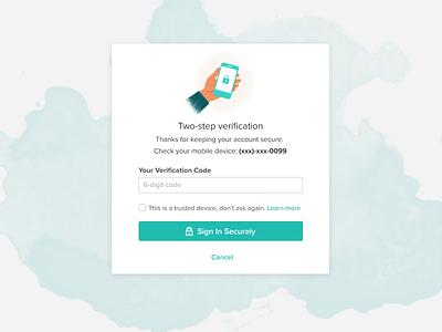 Two-step verification login icon lock verification 2fa security illustration ui login