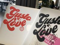 Gusto Love Vinyl Cut