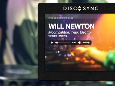 CSS Disco Sync Player