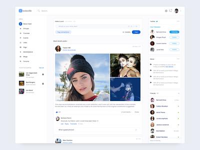 Social platform concept social social platform desktop dailyui website page ux ui design